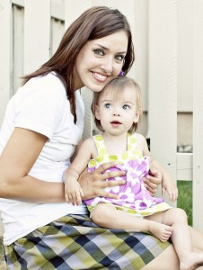 Jenny Simmons and her daughter Annie