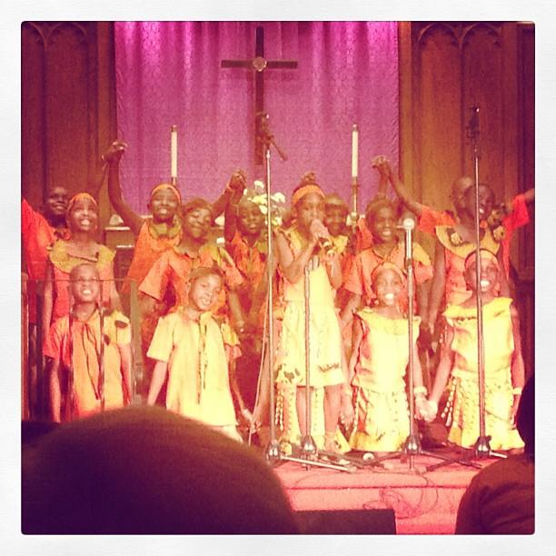 African Children's Choir in suburban Buffalo, NY